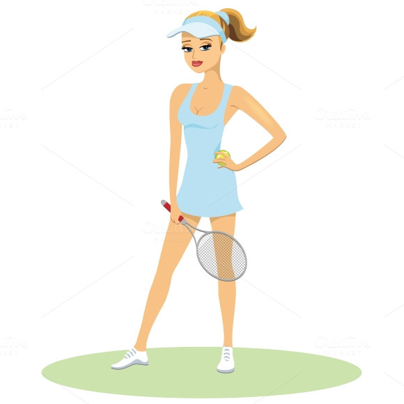 Beauty In Tennis Uniform With Racque