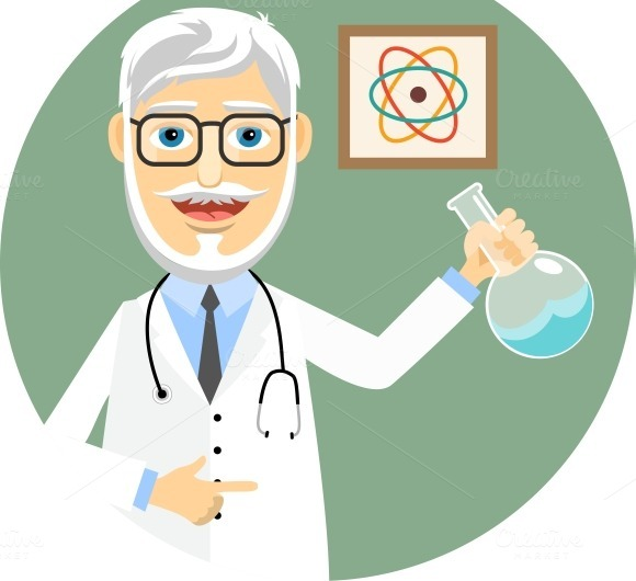 Doctor Doing Chemical Experiments