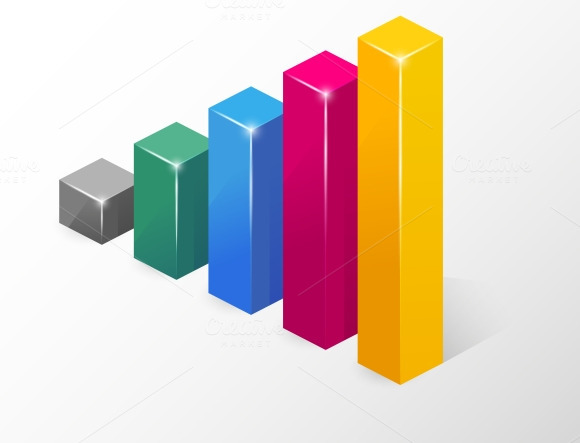 Vector Colored Bar Chart