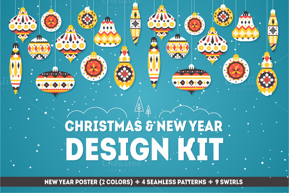 Christmas New Year Design Kit