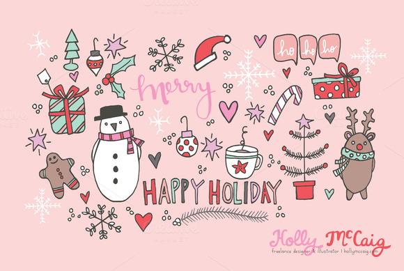 Happy Holidays Digital Clipart