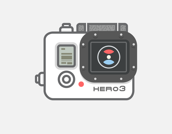 Video Camera GoPro Vector Icon