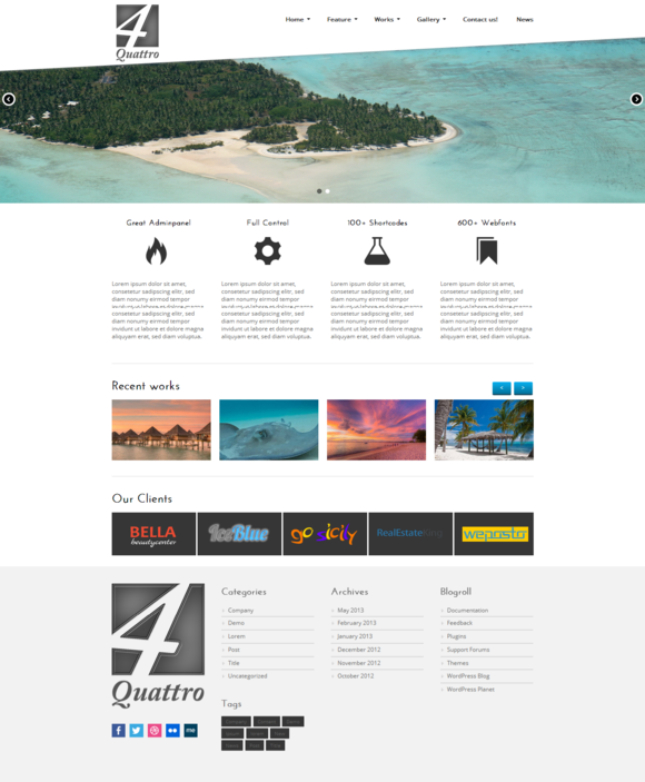 Quattro WordPress Business Theme