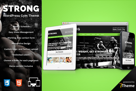Strong- WP Gym Sport Theme