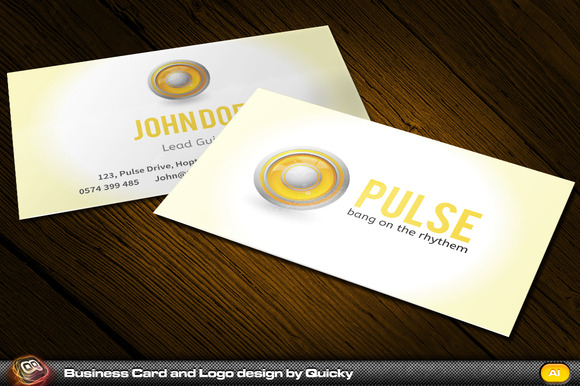 Pulse Business Card And Logo Design