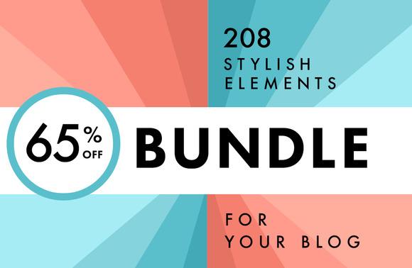 208 Stylish Blog Elements Bundle