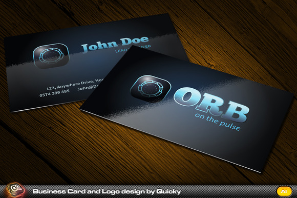 Orb Business Card And Logo Design