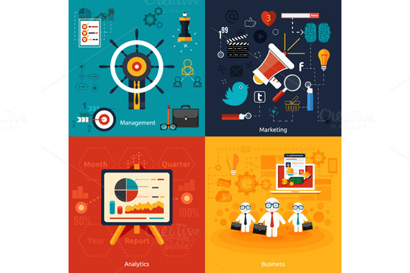 Set Icons For Marketing Management
