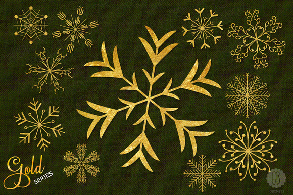 Snowflakes Gold Christmas Decoration
