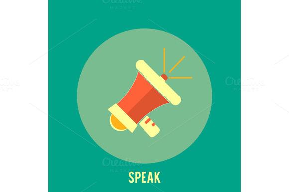 Icon Of Megaphone Speak Concept