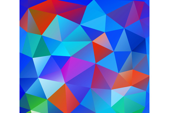 Triangle Background Colorful Polygo