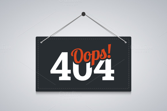 404 Sign For Website Server Error