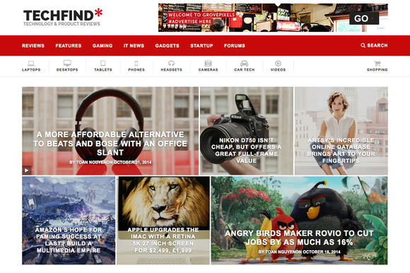 Techfind A Magazine Wordpress Theme