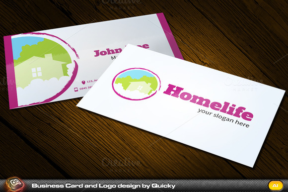 Homelife Business Card And Logo