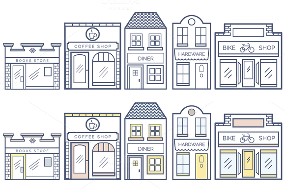 13 Business Buildings Vector