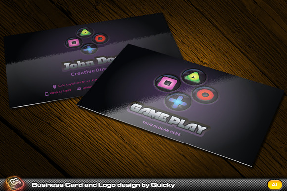 GamePlay Business Card And Logo