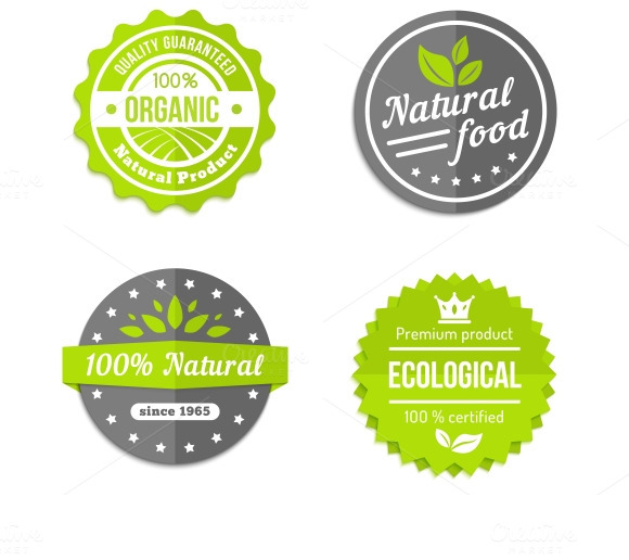 Organic Natural And Eco Food Icons