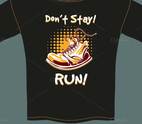 Shoe Design On Black T-Shirt