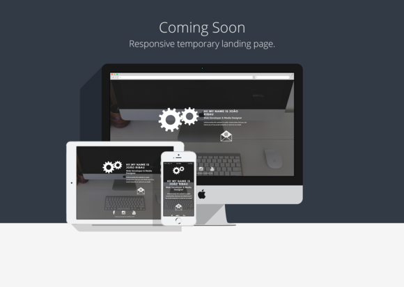 Coming Soon Temporary HTML5 Page