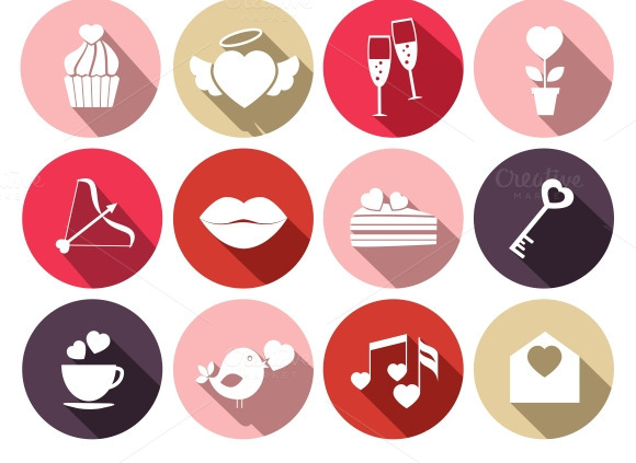 Wedding And Romantic Event Icons