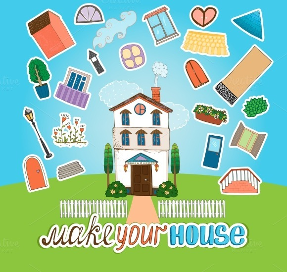 Designer House Illustration