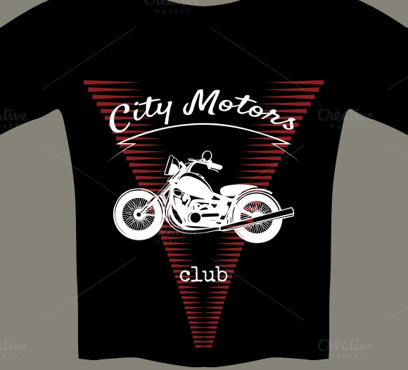 Motorcycle Template For T-shirt
