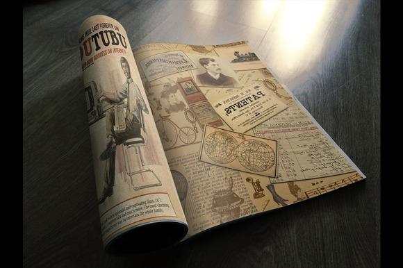 Photorealistic Vintage Magazine