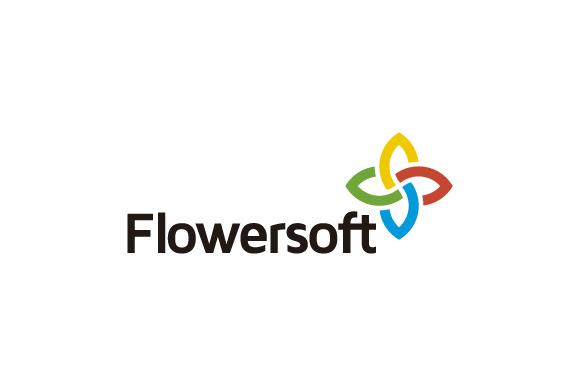Flowersoft Flower Symbol Logo