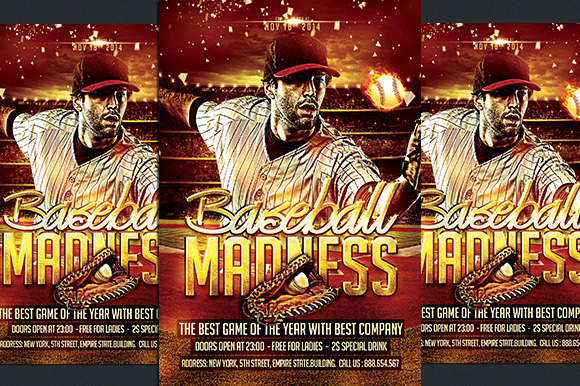 Baseball Madness Flyer