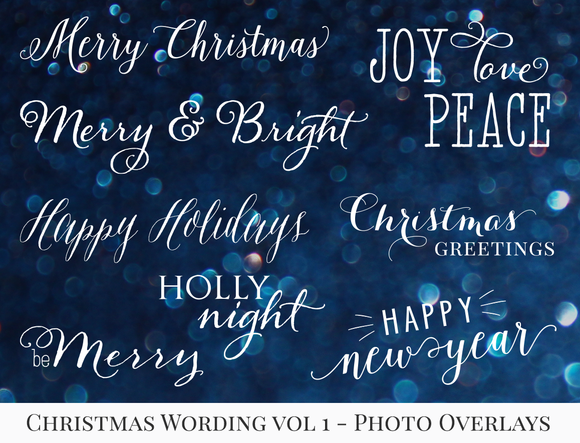 Christmas Wording Vol.1 Overlays