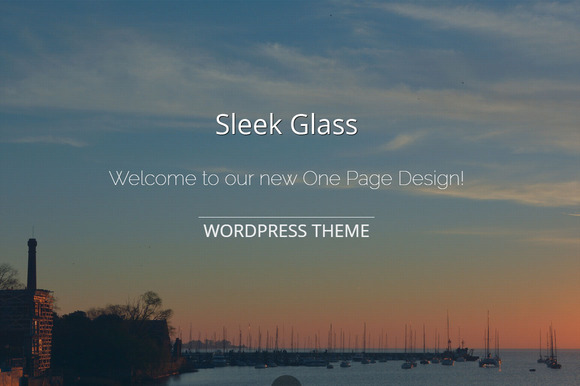 Sleek Glass Wordpress Theme
