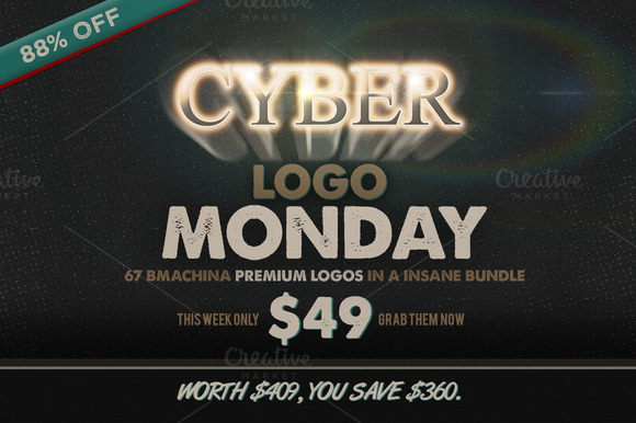 Cyber Monday Logo Bundle