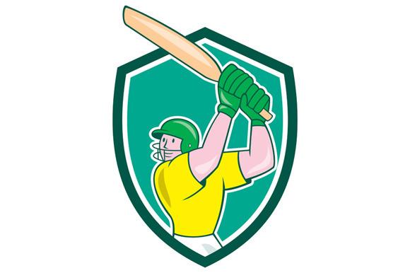 Cricket Player Batsman Batting Shiel