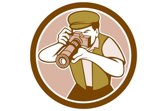 Photographer Shooting Camera Circle