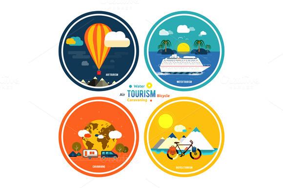Set Icons Set Of Traveling