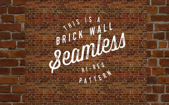 Seamless Red Brick Wall Pattern