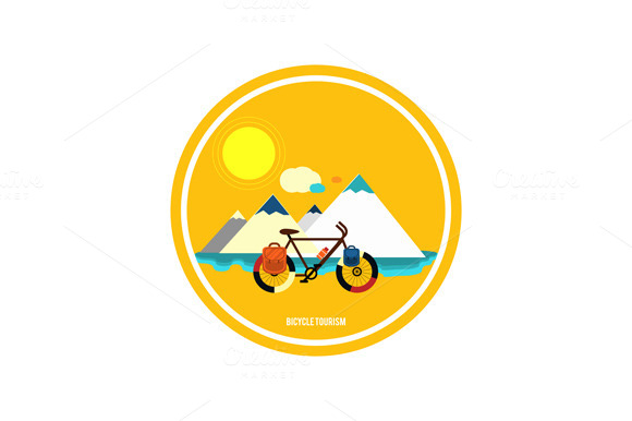 Bicycle Near The Mountain