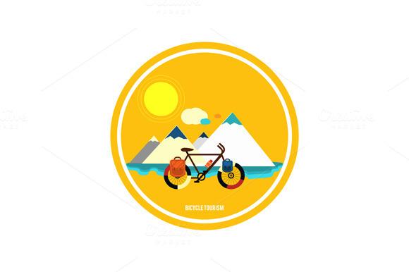 Bicycle Near The Mountain