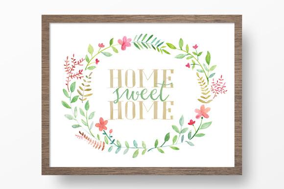 Home Sweet Home Printable Art