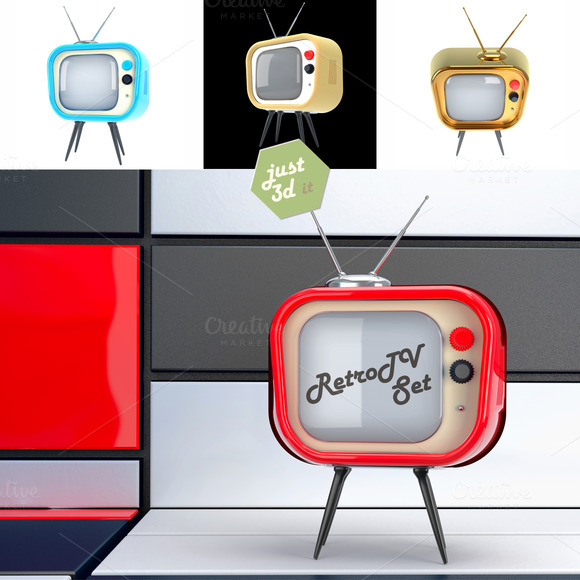Retro TV Set