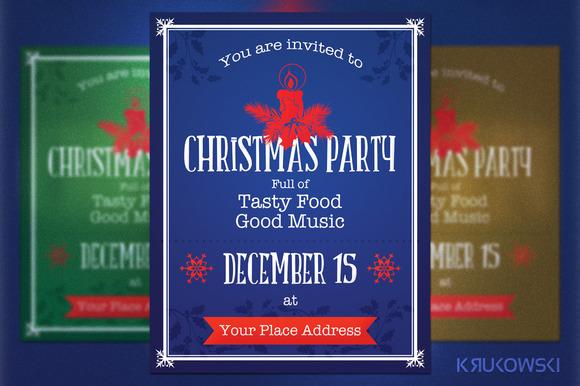 Retro Christmas Flyer