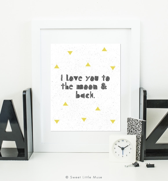Printable Wall Art Typography Quote