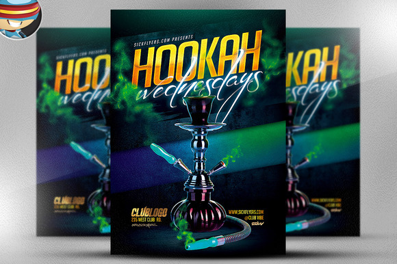 Hookah Wednesday Flyer Template