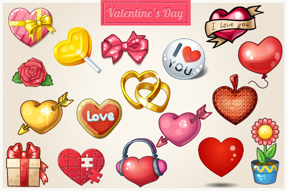 Hearts Icons For Valentine S Day
