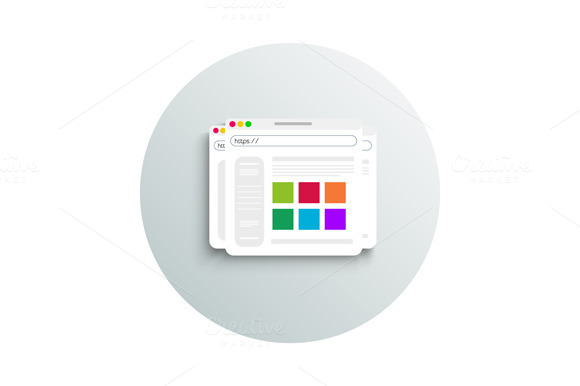 Modern App Icon Of Browser Business