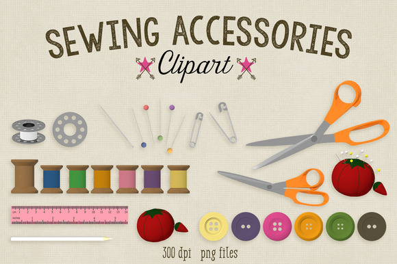 Sewing Accessories Clipart