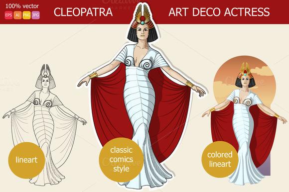 Cleopatra Art Deco Actress