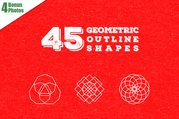 45 Geometric Outline Shapes