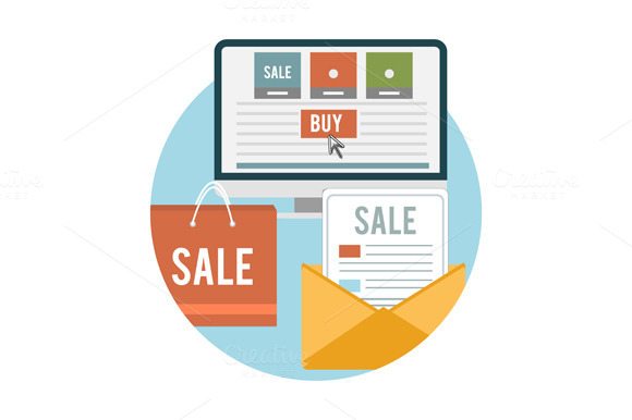 Set Business Online Sale Icons