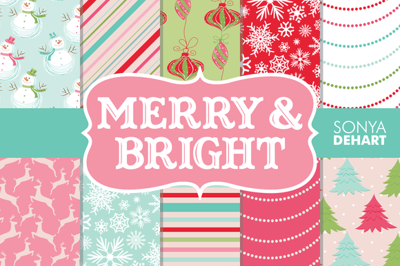 Merry Bright Christmas Papers